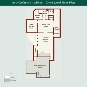 Children's Addition Lower Level Floor Plan