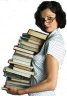 Picture of Librarian with books